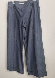 MICHAEL by Michael Kors Wide Leg Navy Trousers 8